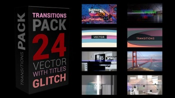 Glitch Transitions Pack 4K - Project for After Effects (Videohive)