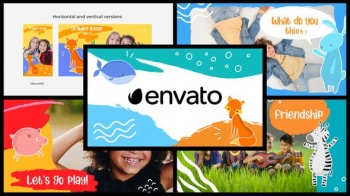 Cartoon Kids Slideshow - Project for After Effects (Videohive)